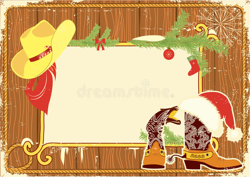 Billboard Frame With Cowboy Boots Stock Vector - Illustration of ...