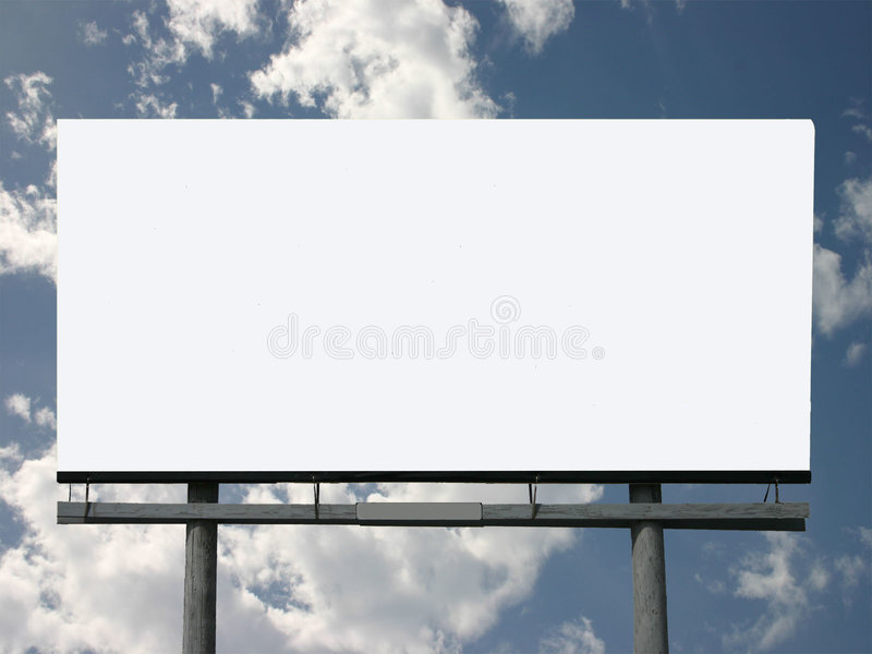 Billboard here for you royalty free stock images