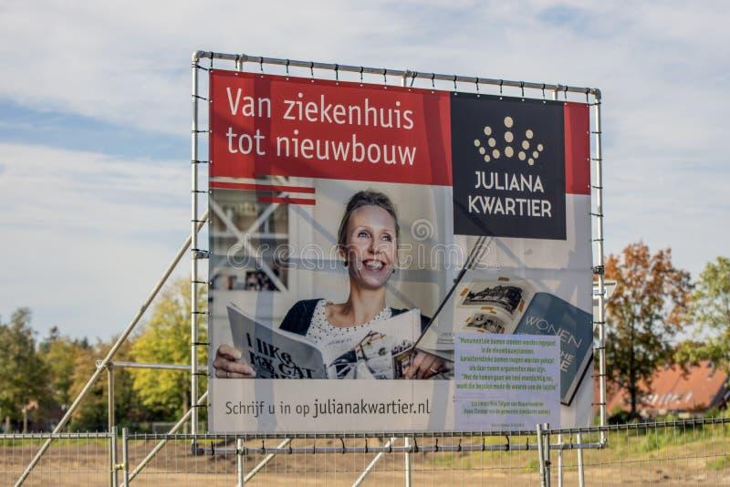 Billboard Juliana Kwartier At Apeldoorn The Netherlands 2018.  stock image