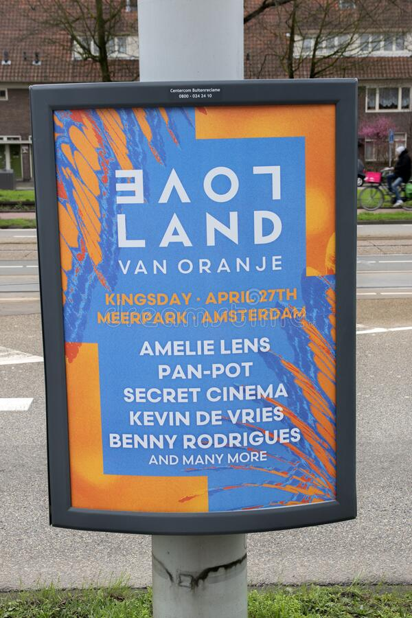 Billboard Loveland Amsterdam Niderlandy 2020 zdjęcia royalty free