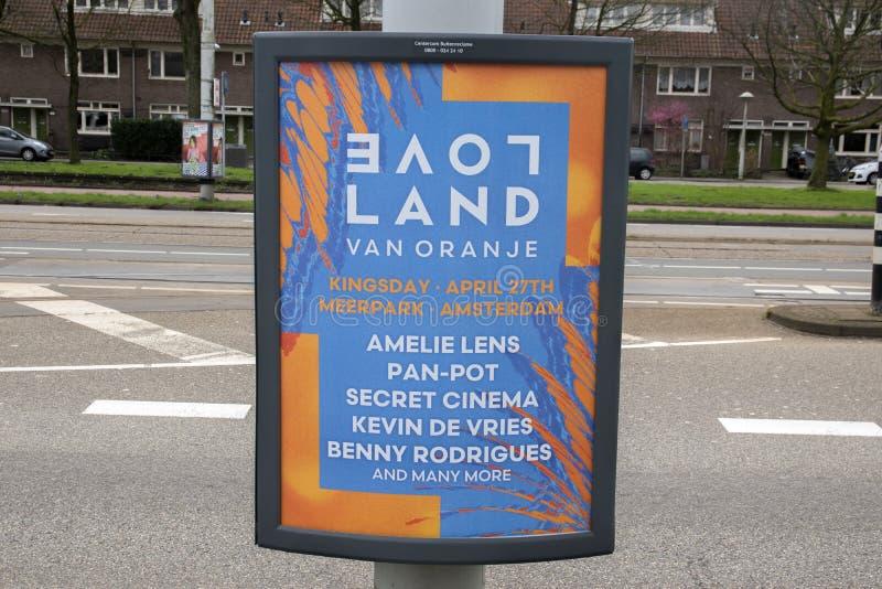 Billboard Loveland Amsterdam Niderlandy 2020 fotografia royalty free