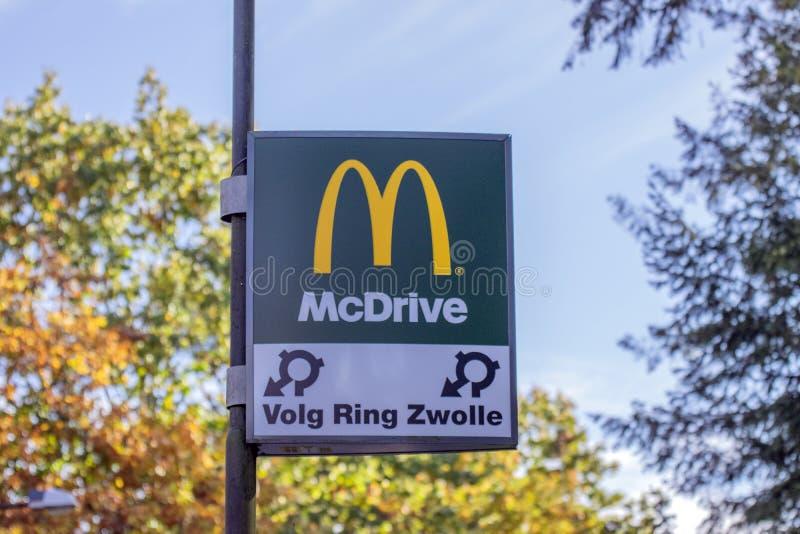 Billboard McDonalds At Apeldoorn The Netherlands 2018.  royalty free stock images