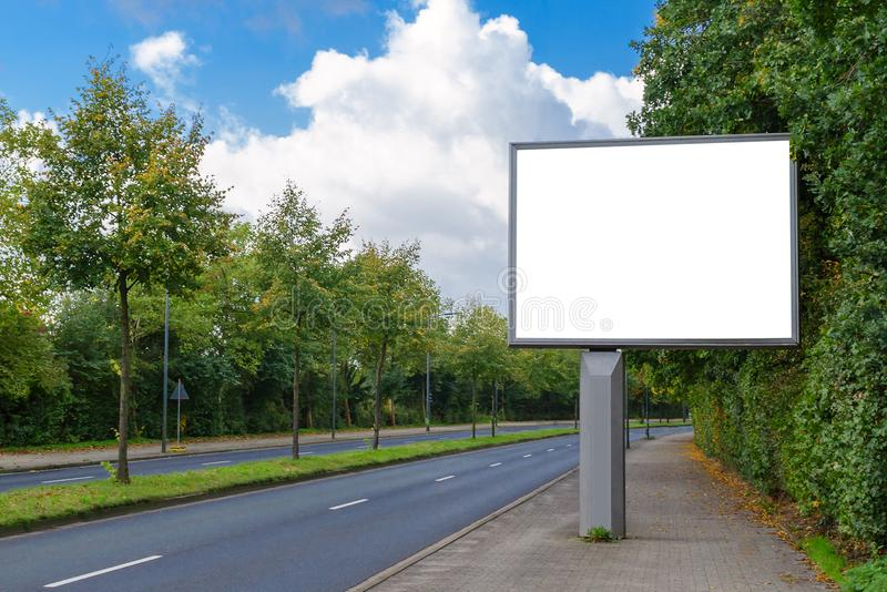 Billboard mockup in german city stock image