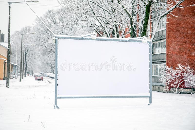 Billboard mockup poster stand in the street royalty free stock images