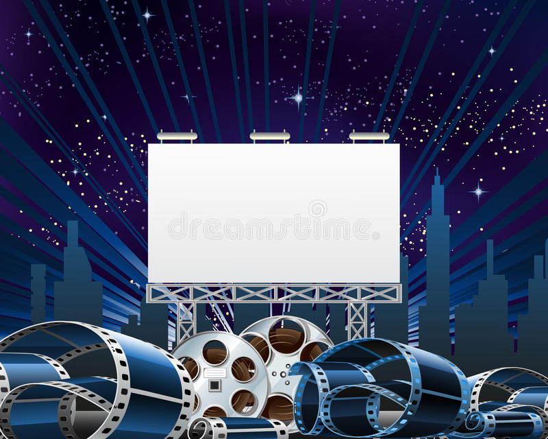 Billboard For Movie Premiere Show royalty free illustration