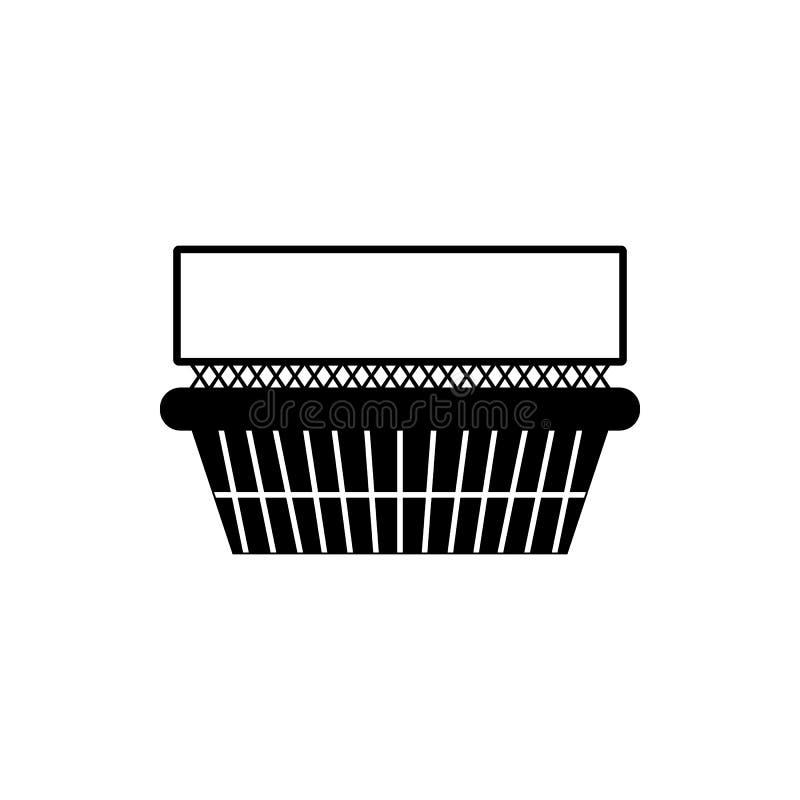 billboard na sklepowego budynku ikonie Element reklamowego billboarda ikona Premii ilości graficznego projekta ikona podpisz symb royalty ilustracja