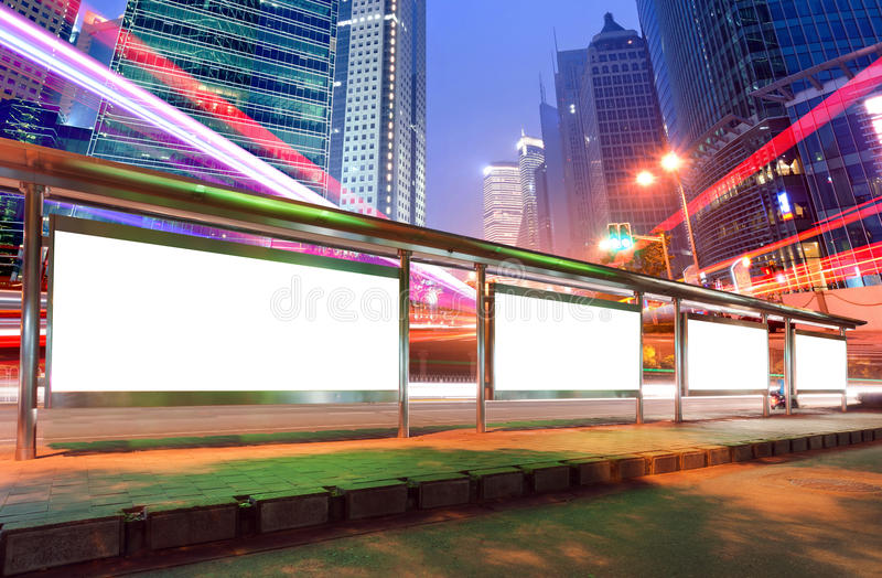 Download Billboard(Night) stock photo. Image of board, modern - 27899042