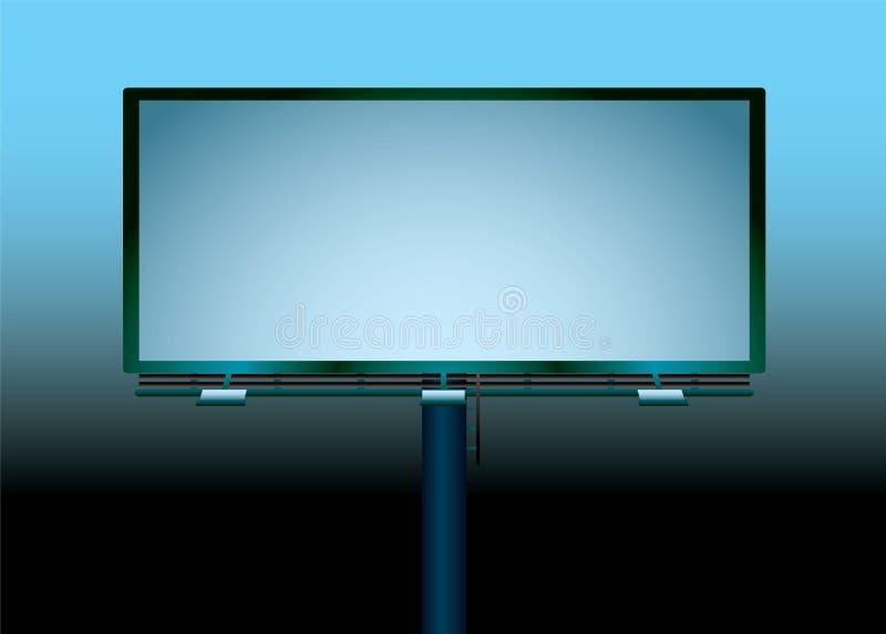 Download Billboard night blank stock vector. Illustration of copyspace - 10304663