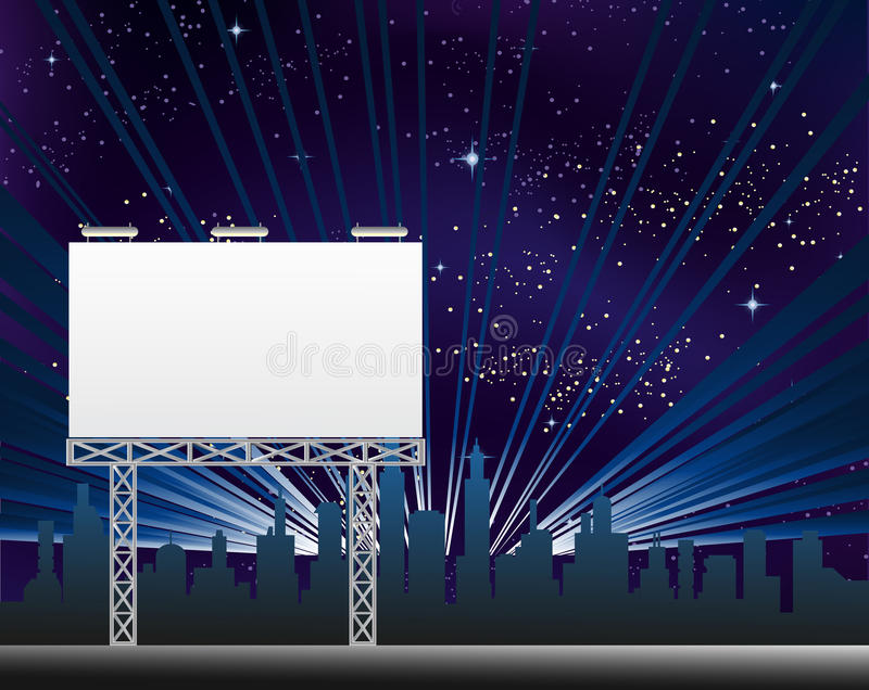 Download Billboard In The Night Clity Stock Vector - Image: 43443394