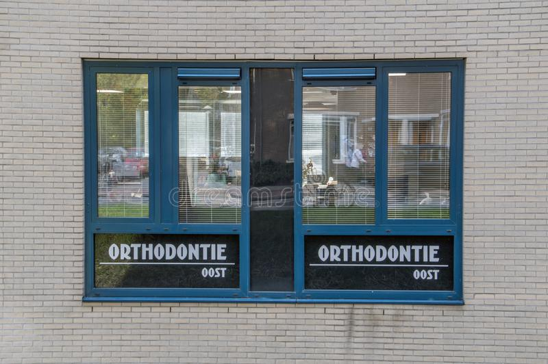 Billboard Orthodontia Oost At Amsterdam The Netherlands 2018.  royalty free stock photo