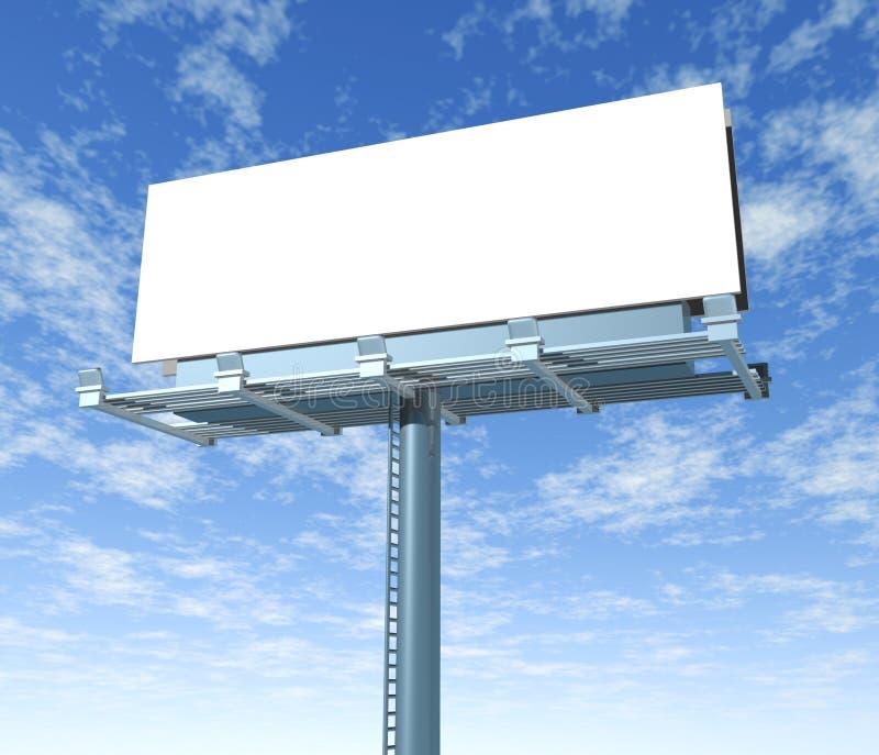Billboard outdoor display with sky. Billboard horizontal outdoor display with sky background stock illustration