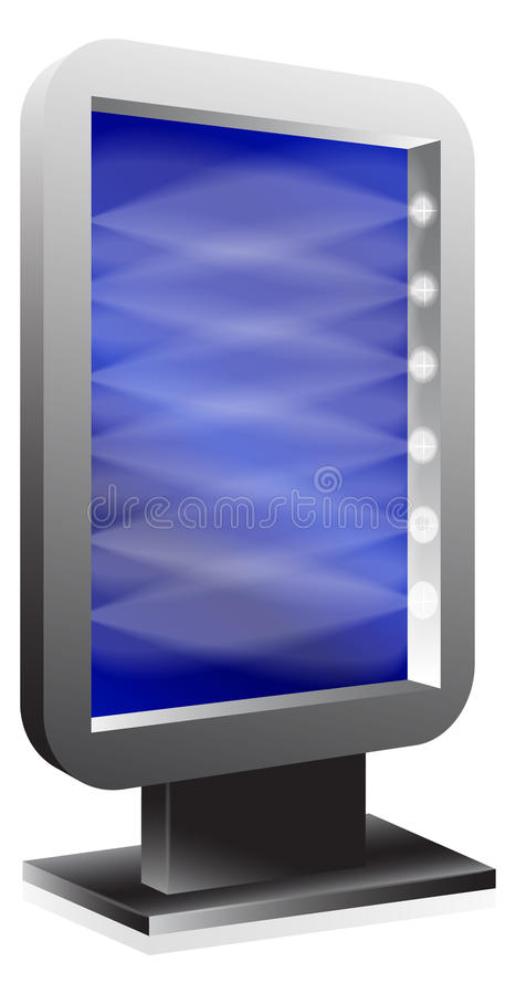 Download Billboard over white stock vector. Image of information - 27389365