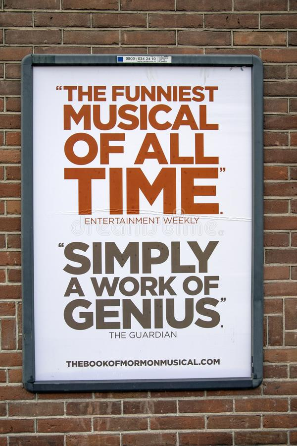 Billboard Po prostu praca geniusz Przy Amsterdam holandie 2018 zdjęcie royalty free