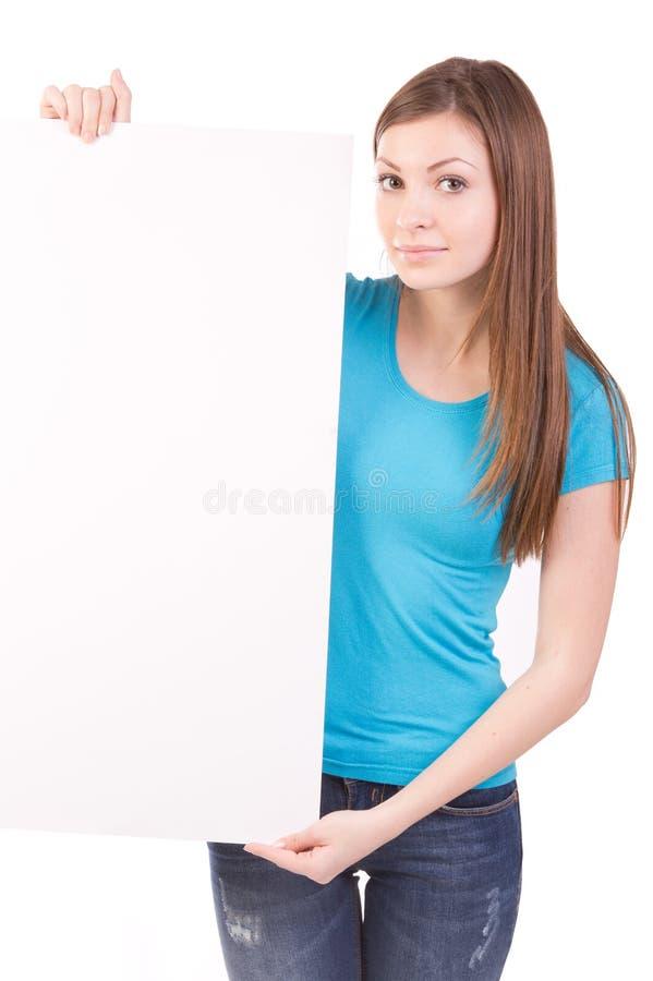 Billboard Poster Woman Stock Photos