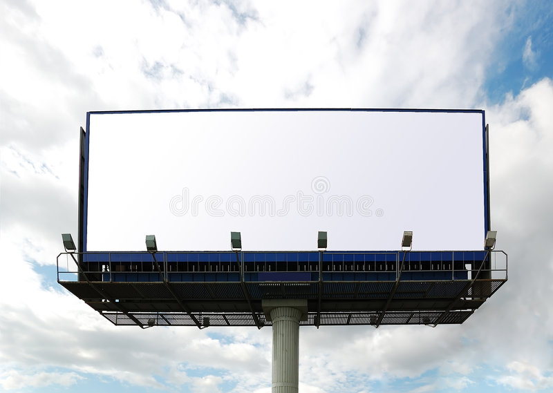 Billboard sign. stock images