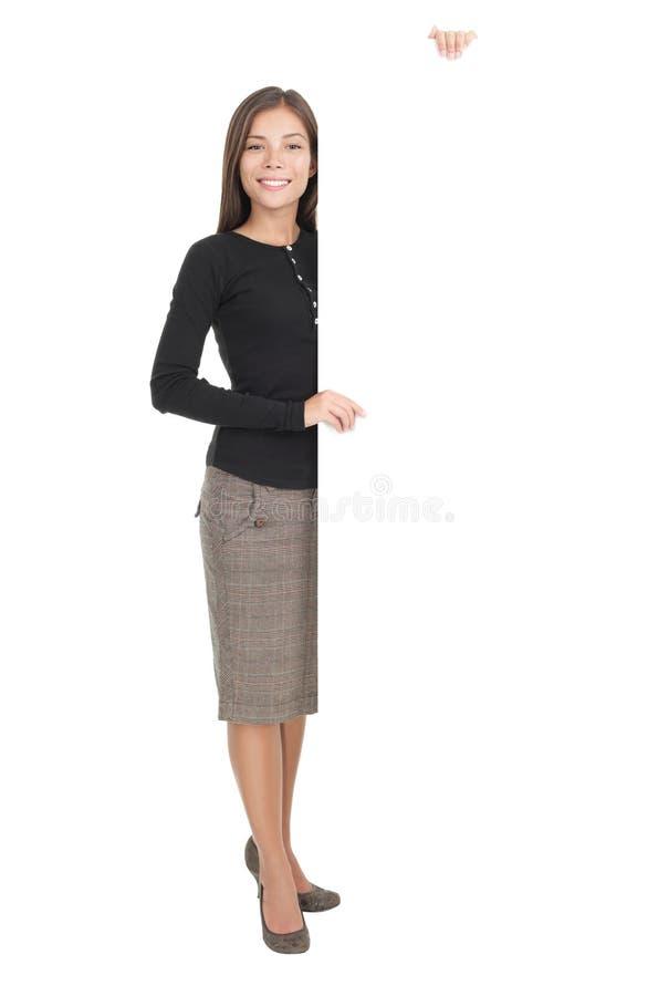 Billboard sign businesswoman