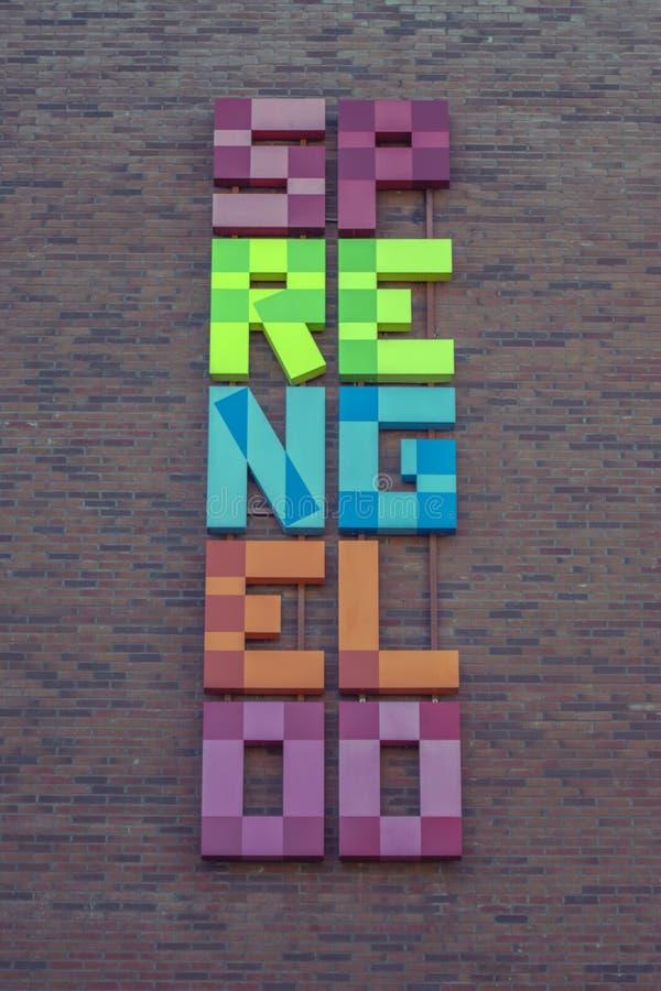 Billboard From The Sprengeloo VMBO School At Apeldoorn The Netherlands 2018.  royalty free stock images