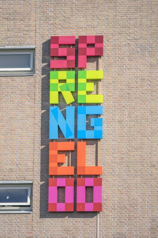 Billboard From The Sprengeloo VMBO School At Apeldoorn The Netherlands 2018.  stock photo