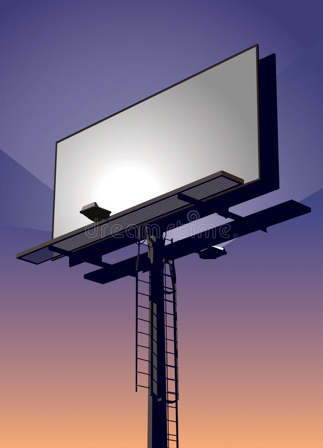 Billboard at Sunset stock illustration