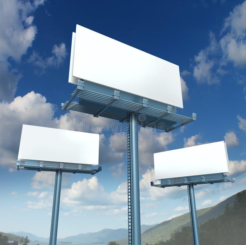Billboards Blank Advertising royalty free illustration