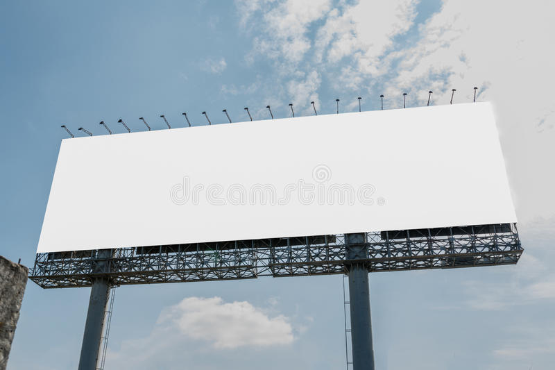 Billboards empty. On the steel structure with sky background royalty free stock photography