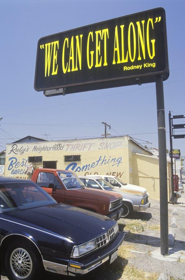 Billboardu ï ¿ czytelniczy ½ możemy dostawać alongï ¿ ½, Południowy Środkowy Los Angeles, Kalifornia zdjęcia royalty free