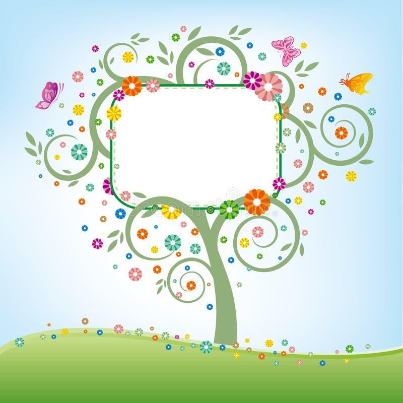 billboardu drzewo ilustracji