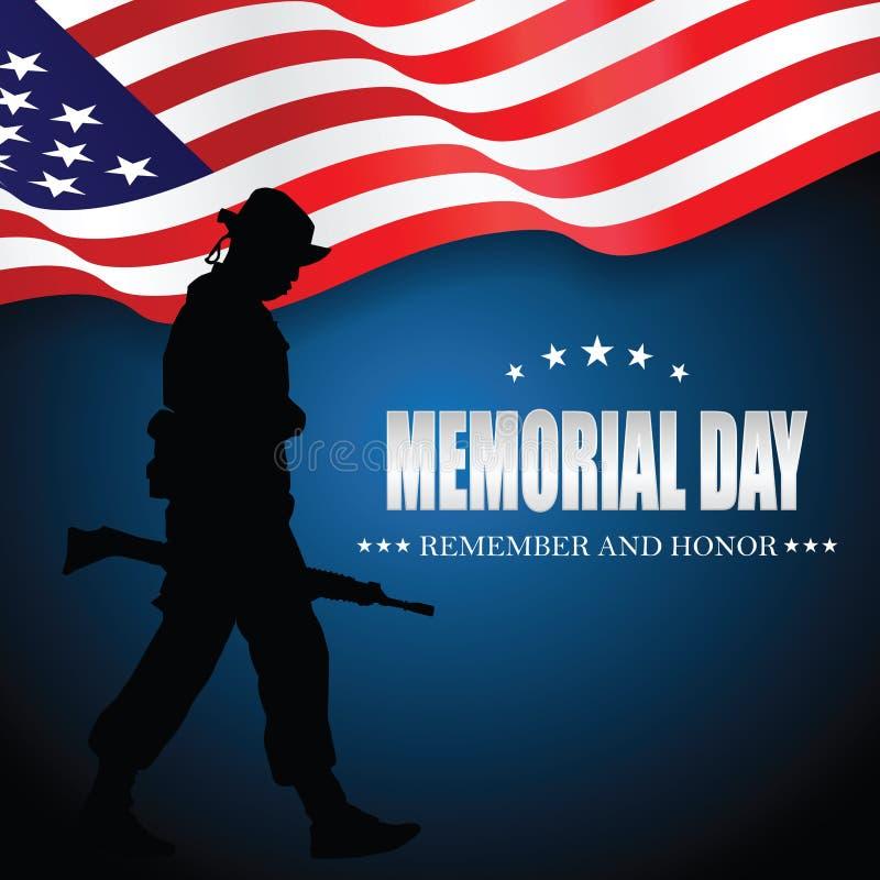 billboardu dzień odosobniony pamiątkowy biel Pamięta I Honoruje ilustracja wektor