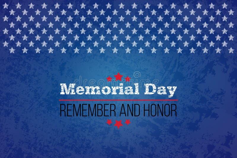 billboardu dzień odosobniony pamiątkowy biel Pamięta I Honoruje Wektorowy llustration dla Amerykańskiego wakacje Projektuje szabl ilustracji