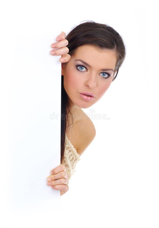 billboardu pusta mienia kobieta zdjęcie stock