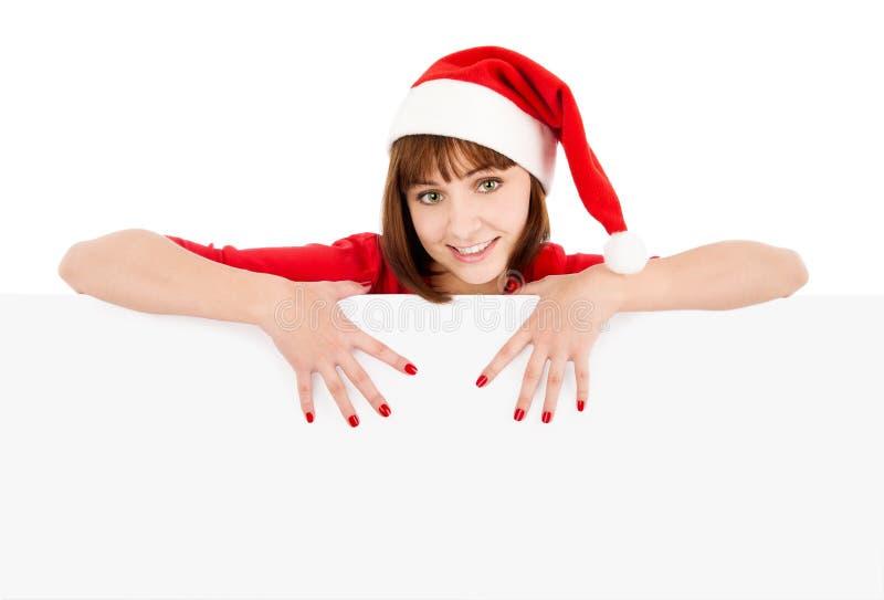 billboardu pusta target1875_0_ Santa szyldowa kobieta zdjęcia royalty free