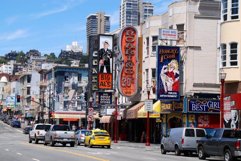 Billboardy w północy plaży, San Francisco zdjęcie stock