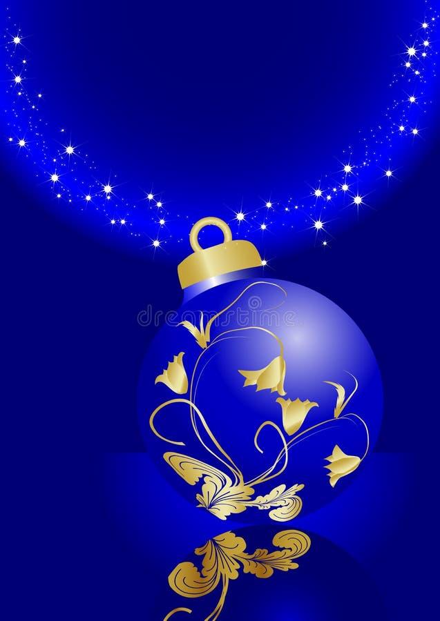 Bille bleue de Noël illustration de vecteur