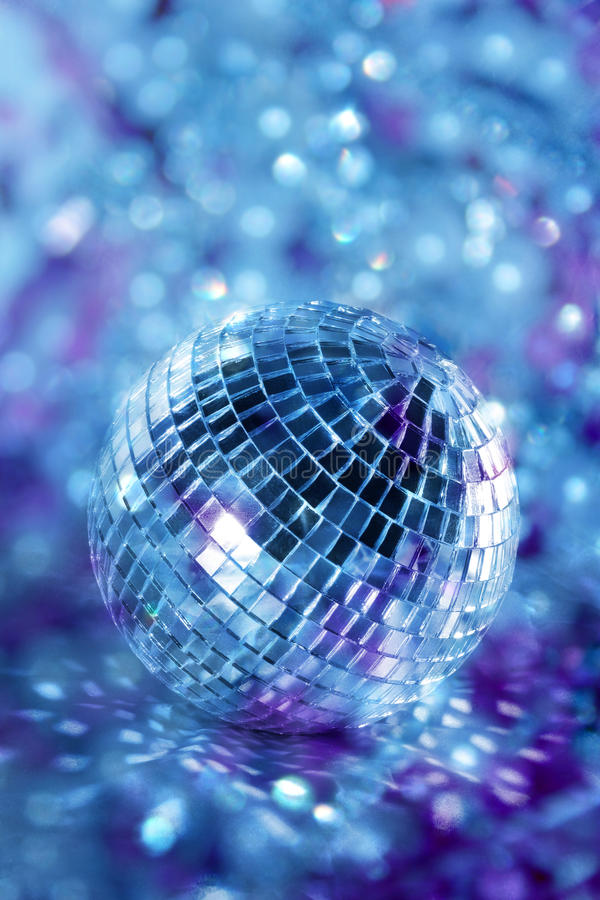Bille brillante de disco images stock
