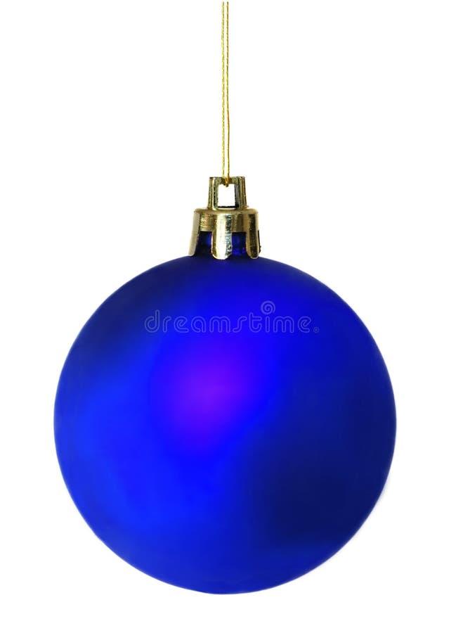 Bille brillante diffuse de Noël de bleu photos stock