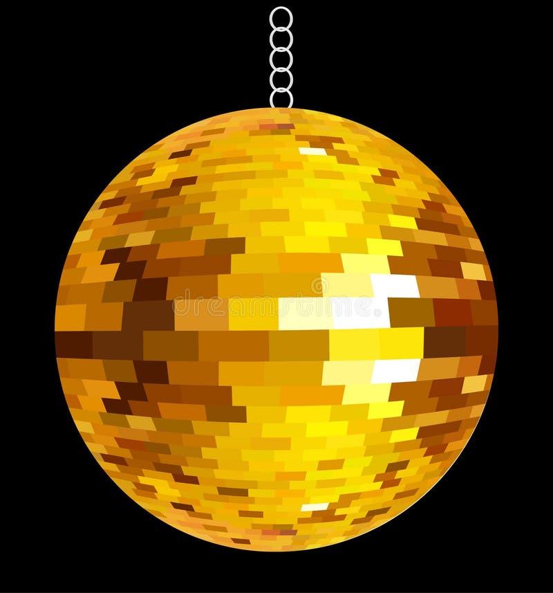 Bille d'or abstraite de disco illustration libre de droits