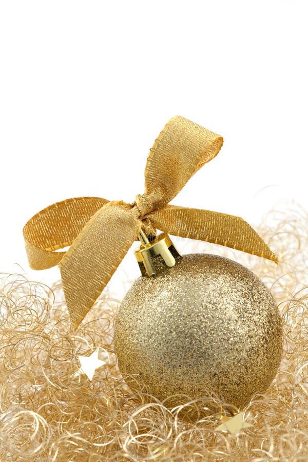 Bille d'or de Noël photo libre de droits