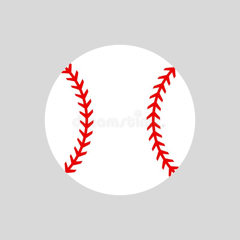 Bille de base-ball softball Silhouette de vecteur Icône de vecteur d'isolement illustration de vecteur
