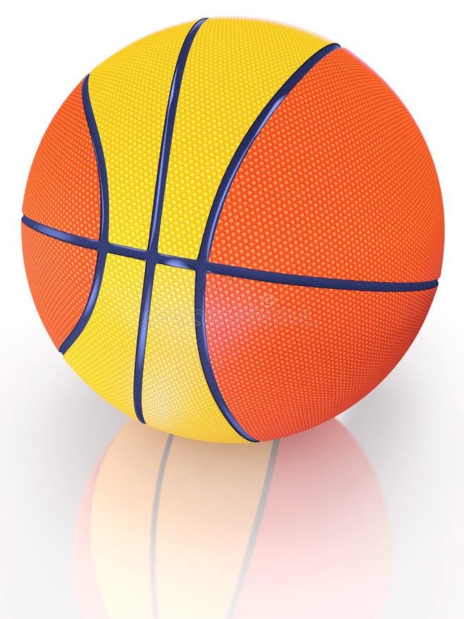 Bille de basket-ball illustration stock
