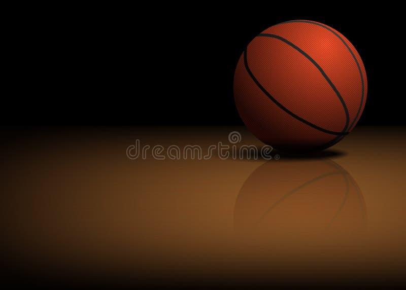 Bille de basket-ball sur l'étage illustration stock
