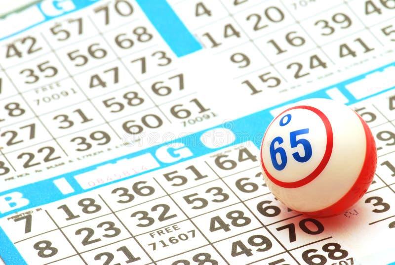 Bille de bingo-test sur la carte image libre de droits