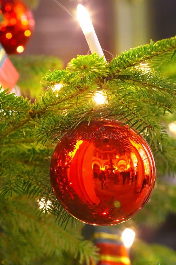 Bille de bougie et de Noël photos libres de droits
