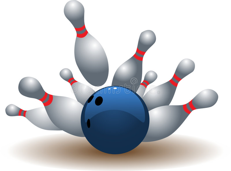 Bille de bowling images stock