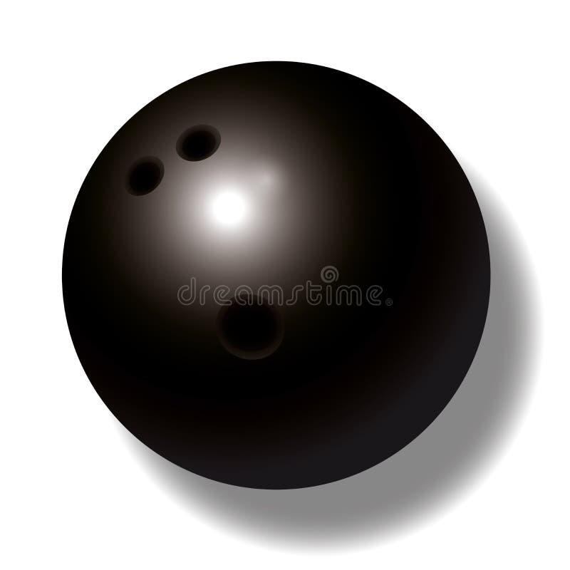 Bille de bowling noire illustration stock