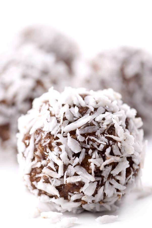 Bille de chocolat et de noix de coco images libres de droits