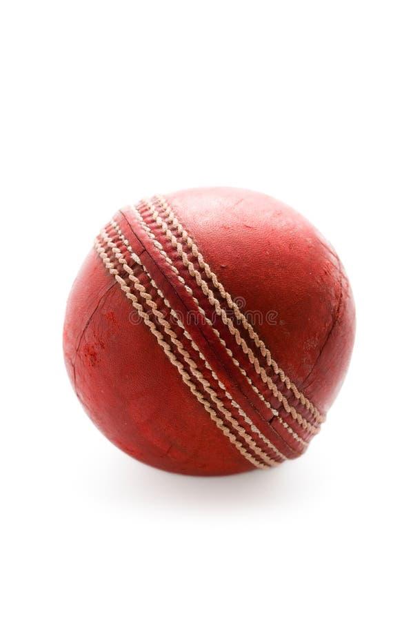Bille de cricket d'isolement photo libre de droits