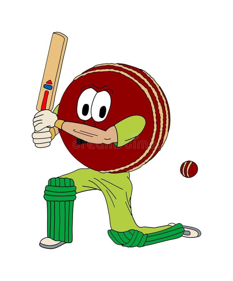 Bille de cricket humaine illustration de vecteur