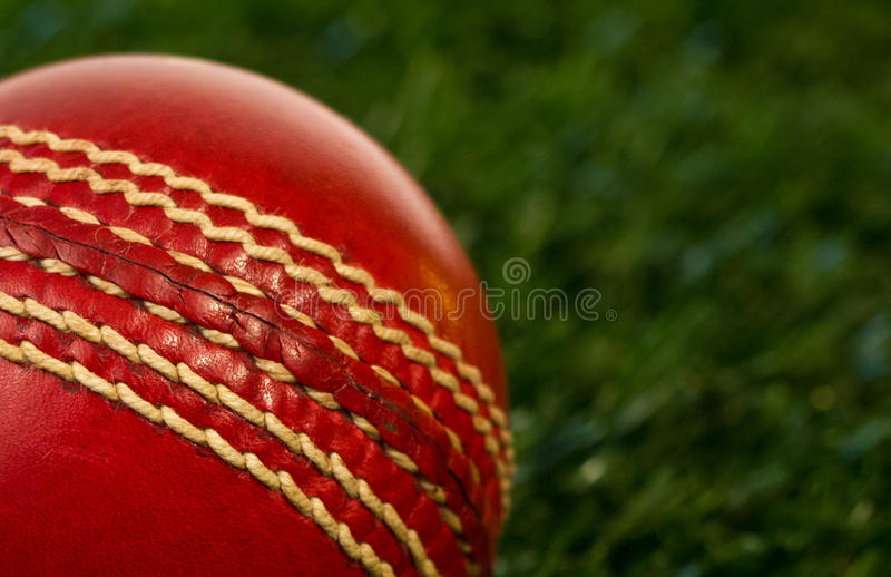 Bille de cricket rouge images stock