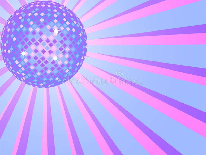 Bille de disco illustration stock