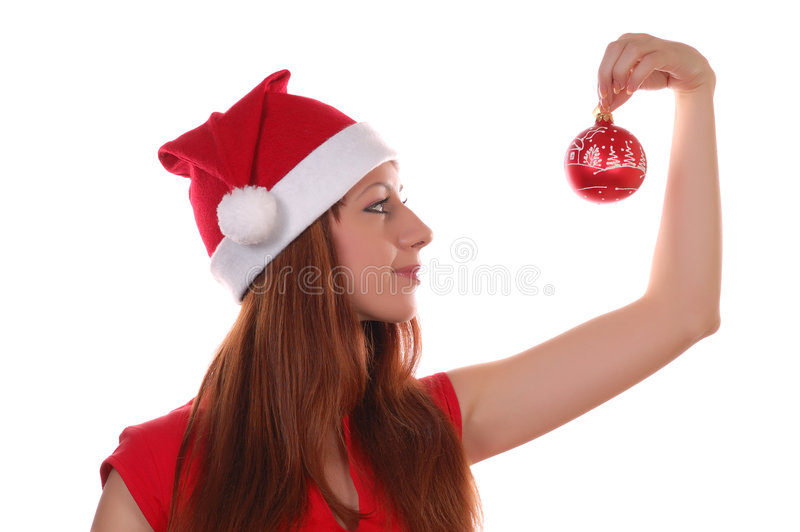 Bille de fille et de Noël image libre de droits